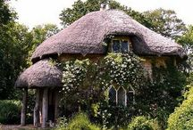 Cabins, castles, and cottages / unique homes / by Becky Cook
