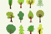 Desenhos árvores