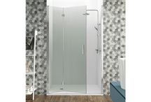 Mamparas Plegables / Mamparas de ducha con hojas plegables, ideales para espacios reducidos.