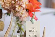 Hunters wedding theme