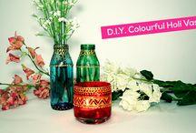 Helpmebuild.com - Holi Special : DIY Colourful Vases