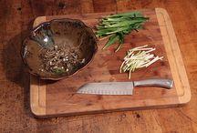 Wild Leek fish sauce& potato salad