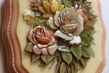 λουλούδια από πηλό