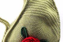 Bolsa de crochê verde DA