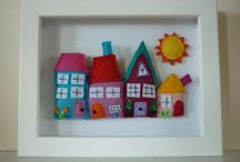Shadow Boxes / Shadow box inspiration, mostly fabric and paper ideas