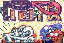 """Dirty / Se caracteriza por la realización de líneas y objetos """"incorrectos"""", con colores repelentes, pero esto de hace adrede.  Fuente: http://www.tiposde.org/arte/1047-tipos-de-graffitis/#ixzz4QOQdcTVK"""
