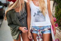 Girls shoot attitude