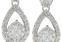 14k White Gold Teardrop Diamond Earrings (1/2 cttw, I-J Color, I1-I2 Clarity)
