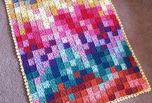 Blankets. Crochet
