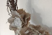 diy flowers/ hessian