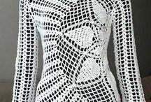 tejido al crochet 2 / remeras musculosas etc / by Monica
