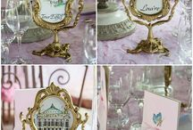 Fairy Tale Wedding Inspiration / Fairy tale wedding styling ideas - ivory, powder blue, violet and golds - with lots of sparkle!