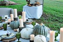 Fall Tablescapes by Season in a Trunk