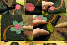 huopapussin koristelua kukkasin