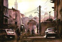 Stunning Watercolor Art by Javid Tabatabaei.