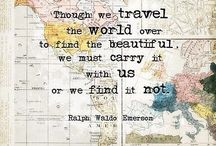 Travel Quotes, Inspiring Words, and the Like