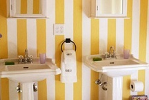 Stripes In Bathroom