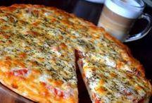Pizza, lángos, lepény, melegszendvics