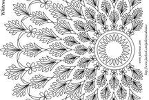 antistresové omalovánky - květy