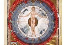 Hildegard von Bingen / afbeeldingen uit de geschriften van Hildegard von Bingen kunnen worden afgedrukt op 11x15 formaat foto