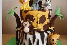B-day animal cake
