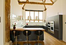The heart of the home - kitchens / A selection of stunning kitchens in our bespoke oak framed homes.