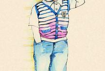 Fashion Illustration of Children
