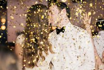 gold glitzer wedding