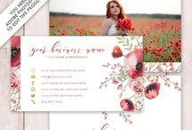 Business Cards / Stylish business card templates for entrepreneurs & photographers. Easily tweak them to your own needs with Adobe Photoshop. Templates available at https://www.etsy.com/shop/DutchLadyDigiDesign
