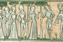 Medieval: Sideless surcote / Research for my coming project of making a sideless surcot. Mainly 1360-1415