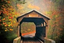 Wishing Bridges / I based my romance series, Sisters of Wishing Bridge Farm on all the gorgeous covered bridges I kept finding online. There is something magical about them, which made me think that perhaps they helped wishes come true!