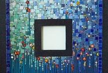 Miroir jardin de fleurs