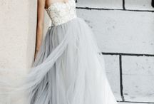 wedding dress & hair ♡