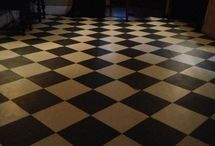 checkerboard painted