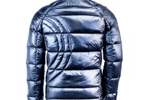 PREMIUM DOWN JACKET / Light Weight Premium Goose down insulation insuring maximum warmth. Light weight flexible mobility insulated Goose down to provide warmth and ultimate comfort. BLACK / NAVY /RED