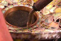 Opbouw  en ring bevestigen van de lampenkappen
