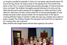"""Halsnead Primary School L35 3TX / Free school visit to Halsnead Primary School L35 3TX. Photos show a typical visit with 'laugh while you learn' slideshow presentation, then questions and answers, followed by a """"Meet the Author' book-signing session. Bookings: info@campionpublishing.com"""