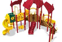 Playgrounds for Small Spaces / Play & Park Structures can customize your playground to fit into any size space, no matter how large or small we can design your dream playground for you!