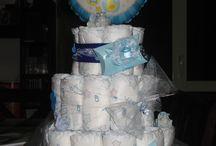 le mie creazioni / torte di pannolini in festa