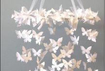 Карусель для кроватки бабочки