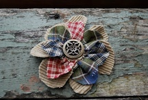fabric flowers / by Debbie Reed