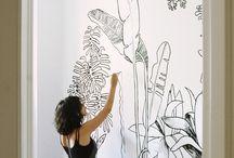 Wandgestaltung Birnbaum