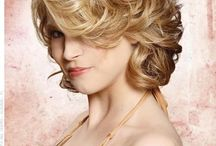 Curled hairstyle