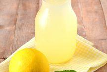 Citronnade et eaux aromatisées