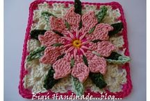 Crochet-granny squares/hexagons/circles / by Lorna Coulthart