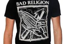 Punk Rock T-shirts / Old school Punk like Bad Religion, Sex Pistols, The Ramones, Clash, to current Green Day