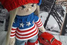 Мои красотулечки / Интерьерные куклы, Тильда, Кукла крючком