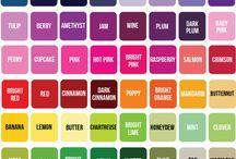 Colours chart / Kleure