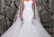 vestido de novia(corte sirena)