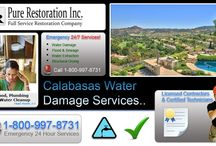 Calabasas - Water Damage Restoration / We provide professional water damage restoration, repair & cleanup services throughout the Southern California areas..